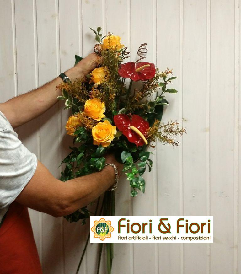 Fiori artificiali fiori finti fiori secchi per - Decorazioni fiori finti ...