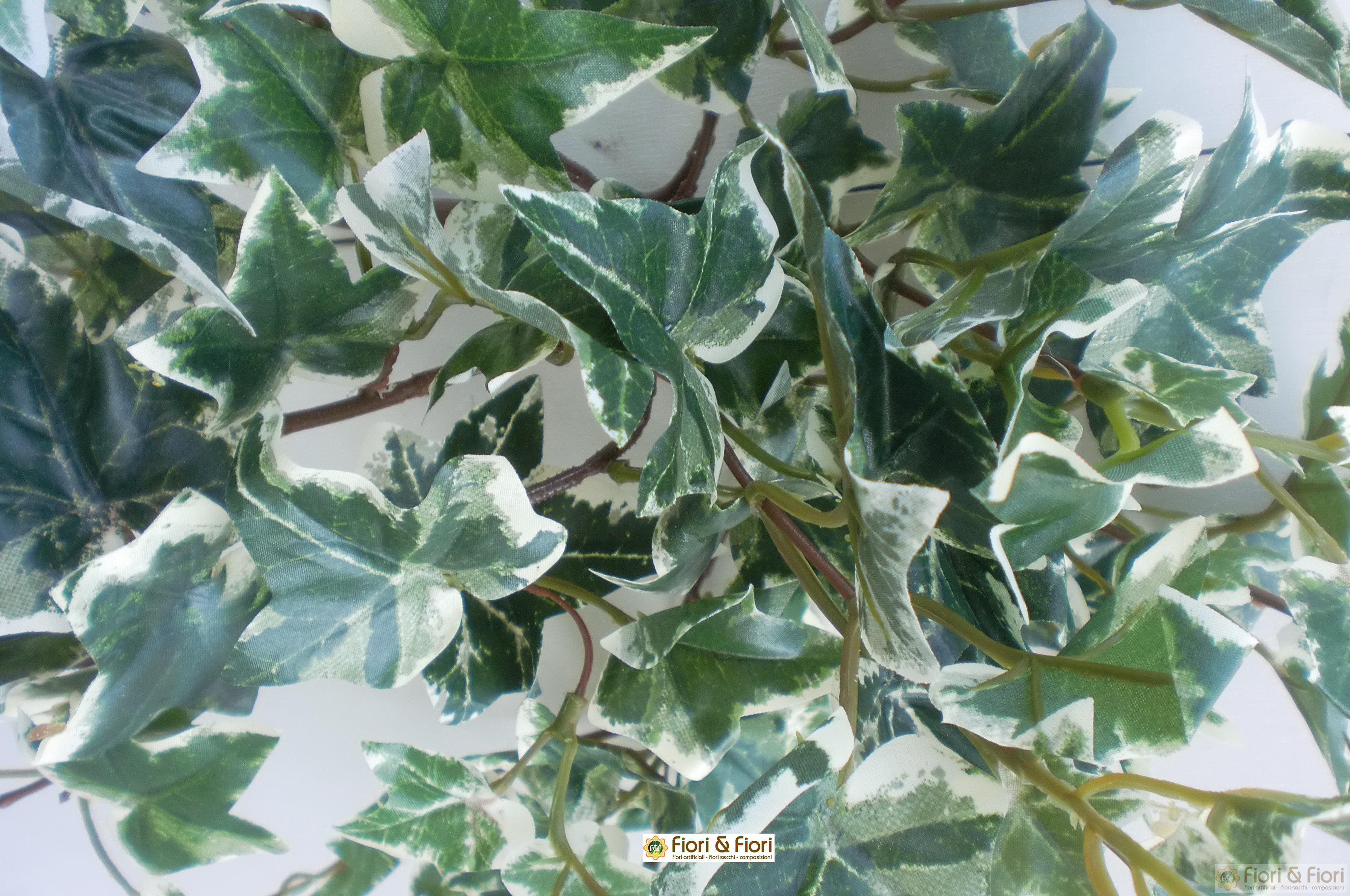 Pianta artificiale edera variegata per decorazioni di interni for Edera finta ikea