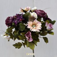 Bouquet fiori artificiali gerbera country viola