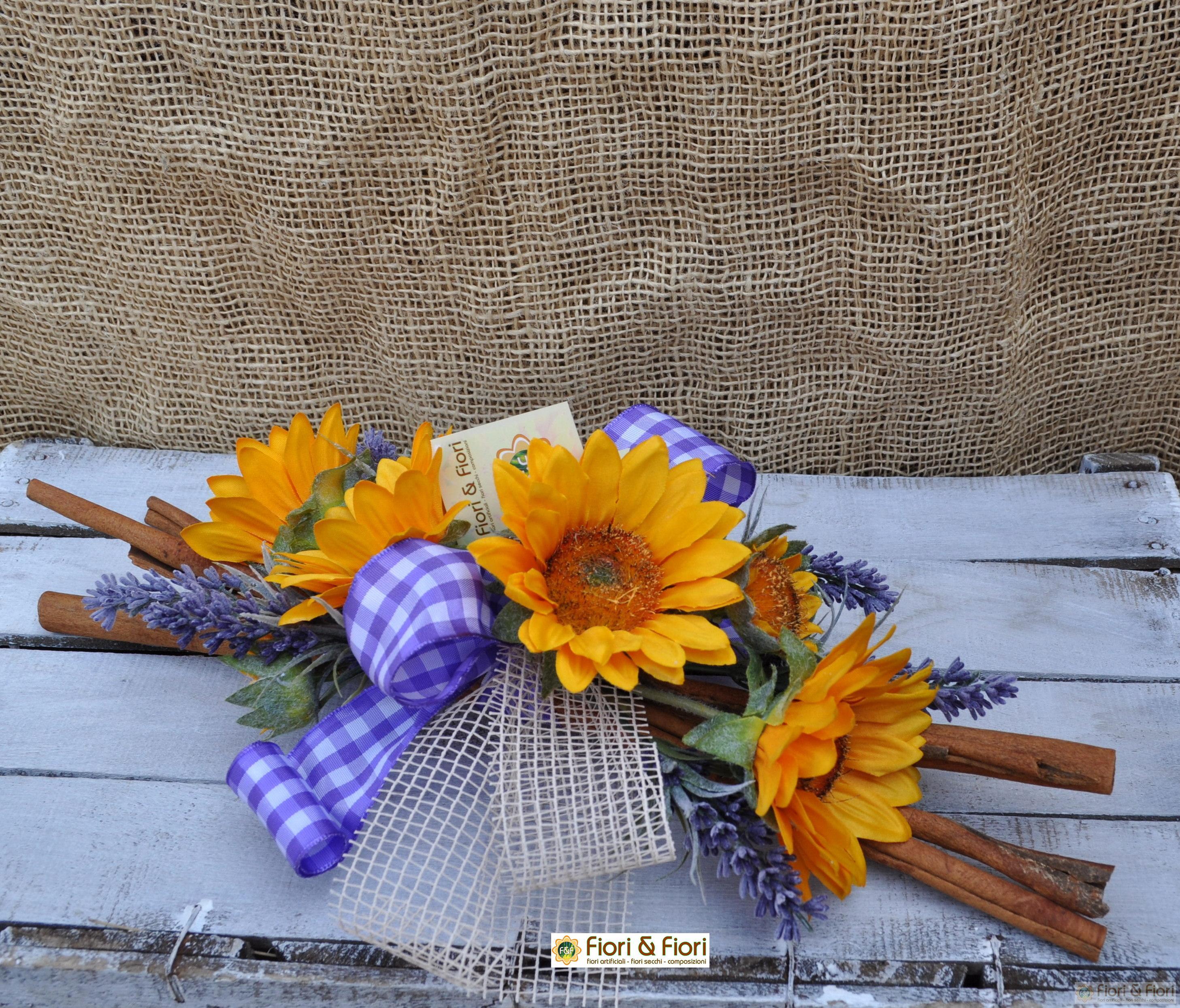 Decorazione fiori artificiali sunflower lavande per - Decorazioni fiori finti ...
