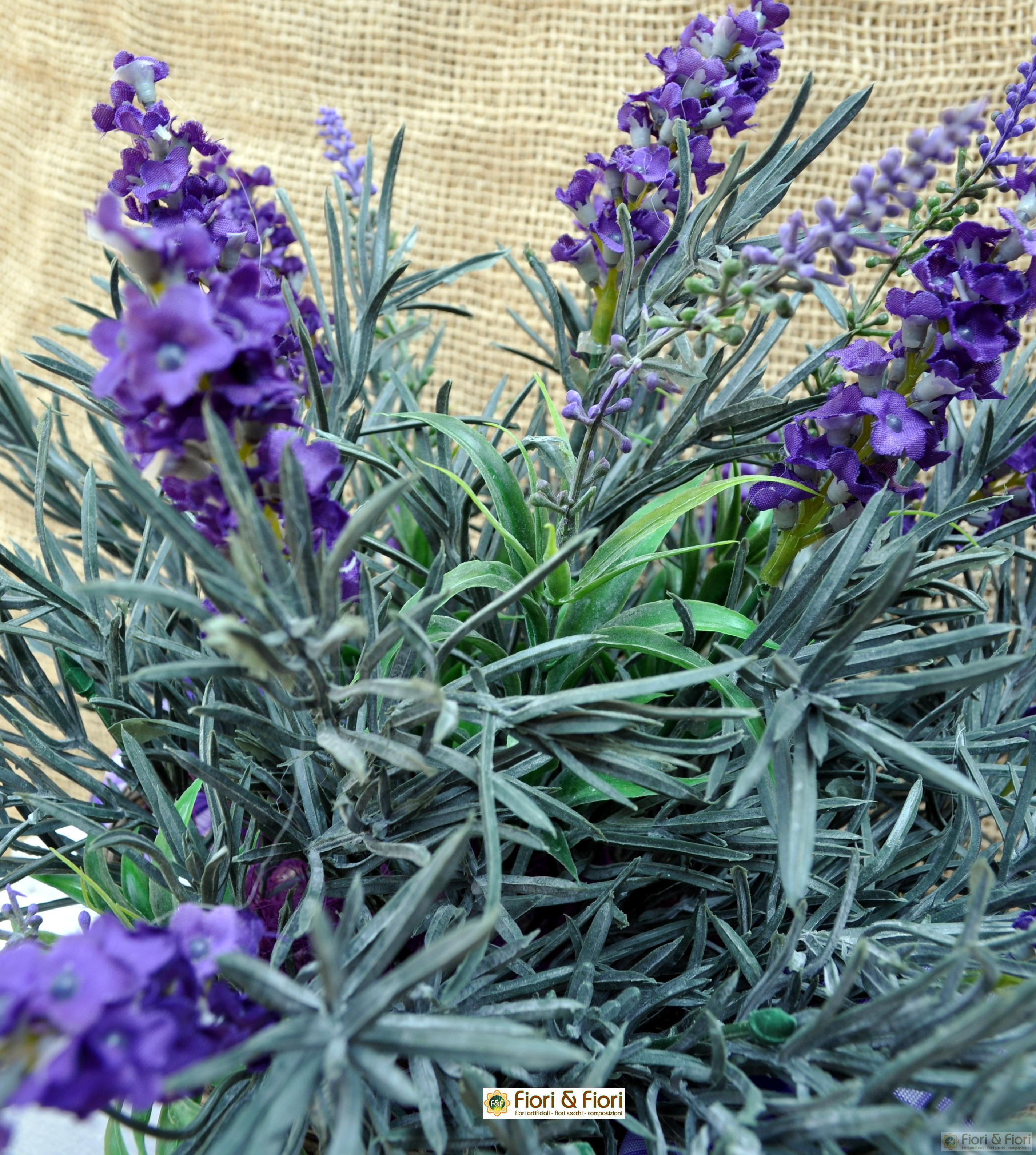 Composizione di fiori artificiali provenza maxi per for Fiori di lavanda