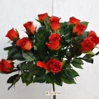 Bouquet fiori artificiali rose paris arancio