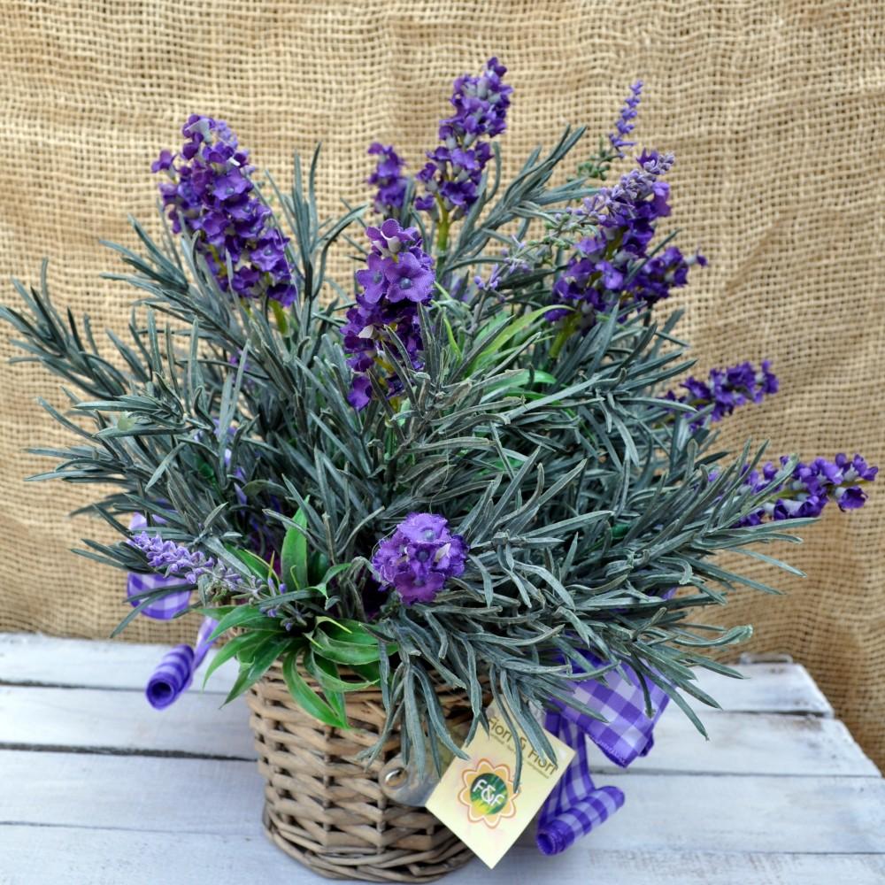 Composizione di fiori artificiali provenza maxi fiori fiori for Fiori di lavanda