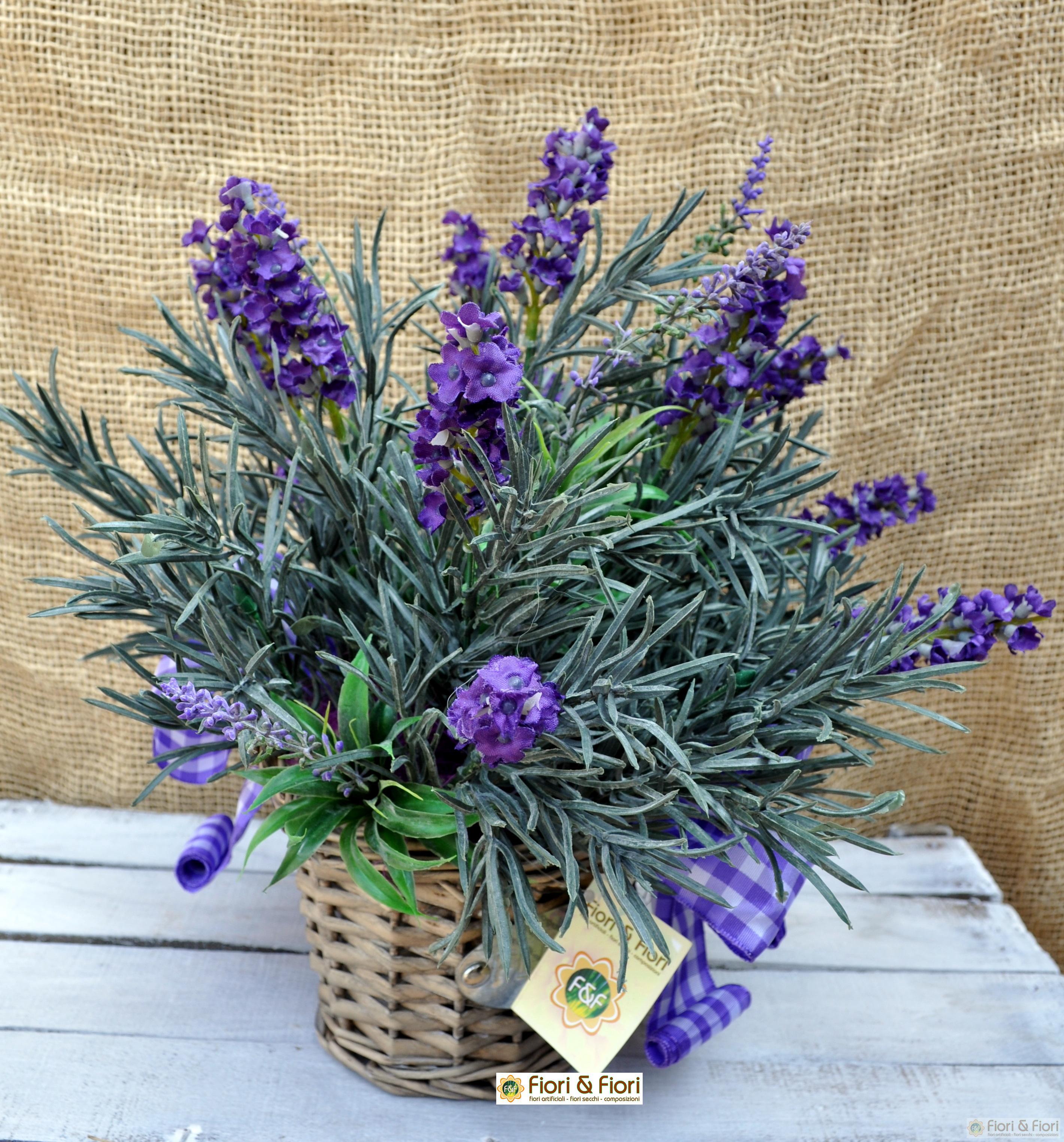 Composizione di fiori artificiali provenza maxi per - Decorazioni fiori finti ...