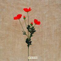 fiore artificiale papavero rosso