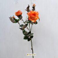Fiore artificiale Rosa Margaret arancio