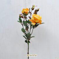 Fiore artificiale Rosa margaret giallo