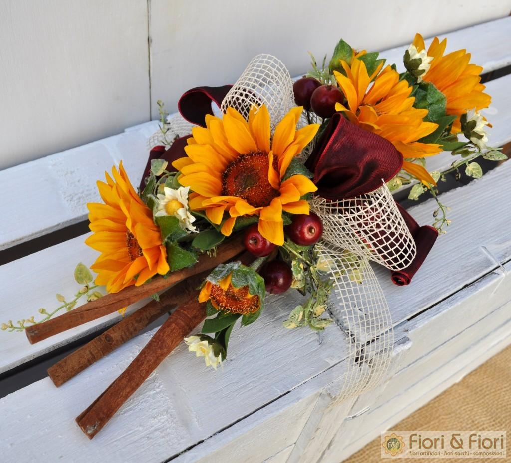 Girasoli Finti Matrimonio : Decorazione fiori artificiali girasole winter
