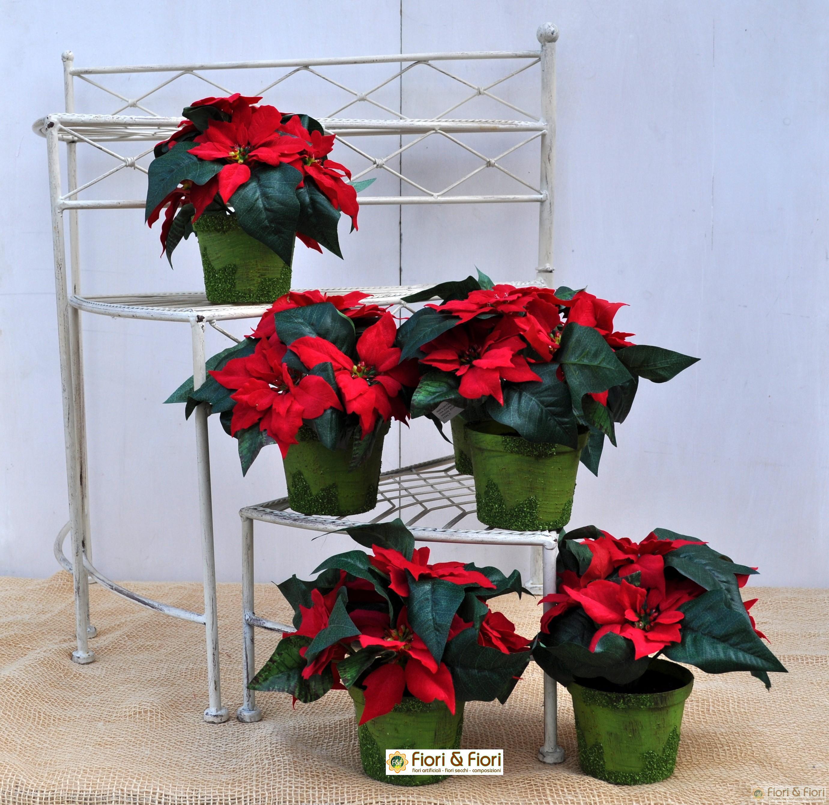 Centrotavola Stella Di Natale.Vaso Stella Di Natale Artificiale Piccolo