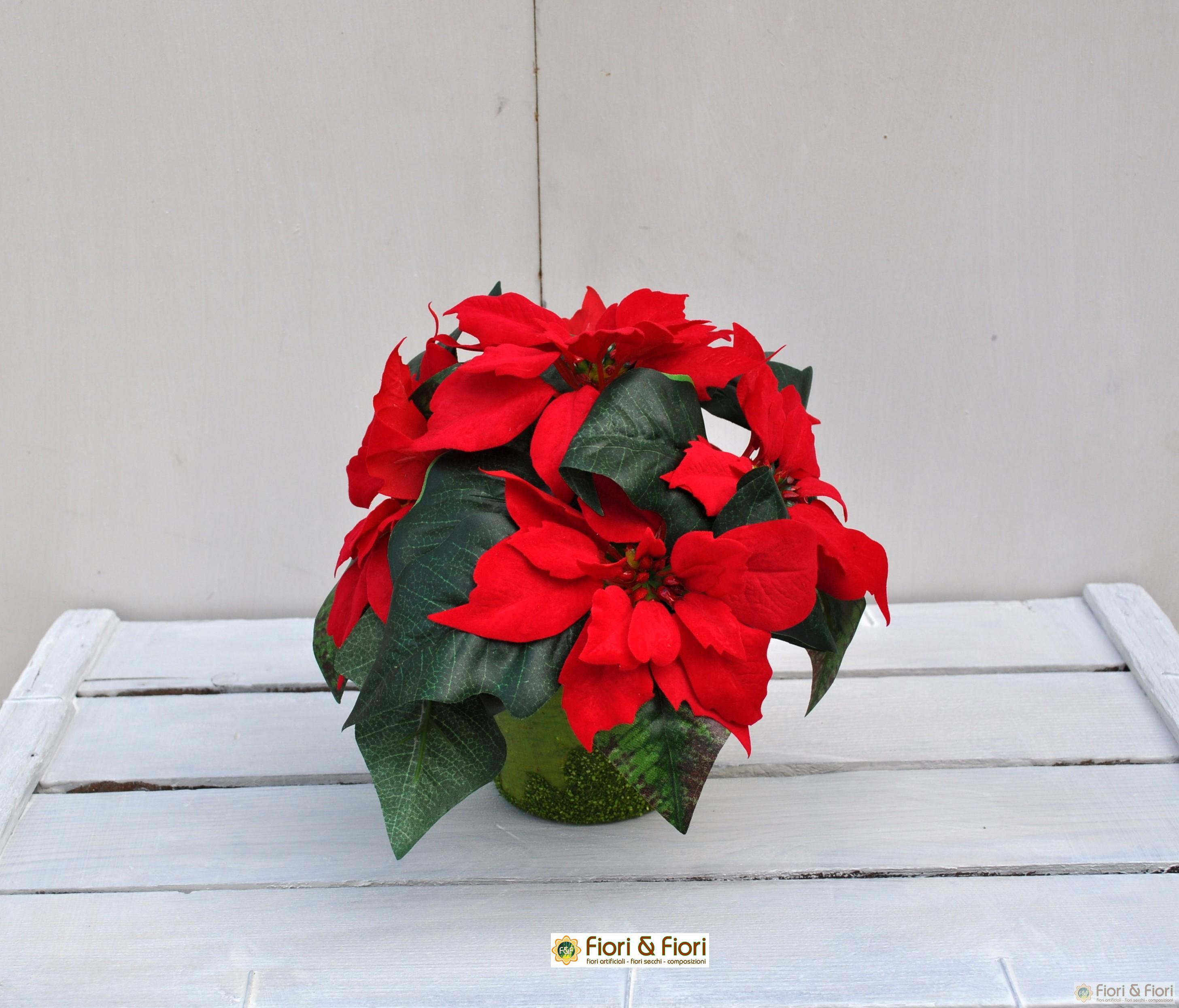 Foto Stella Di Natale.Vaso Stella Di Natale Artificiale In Tessuto Per Decorazioni Natalizie