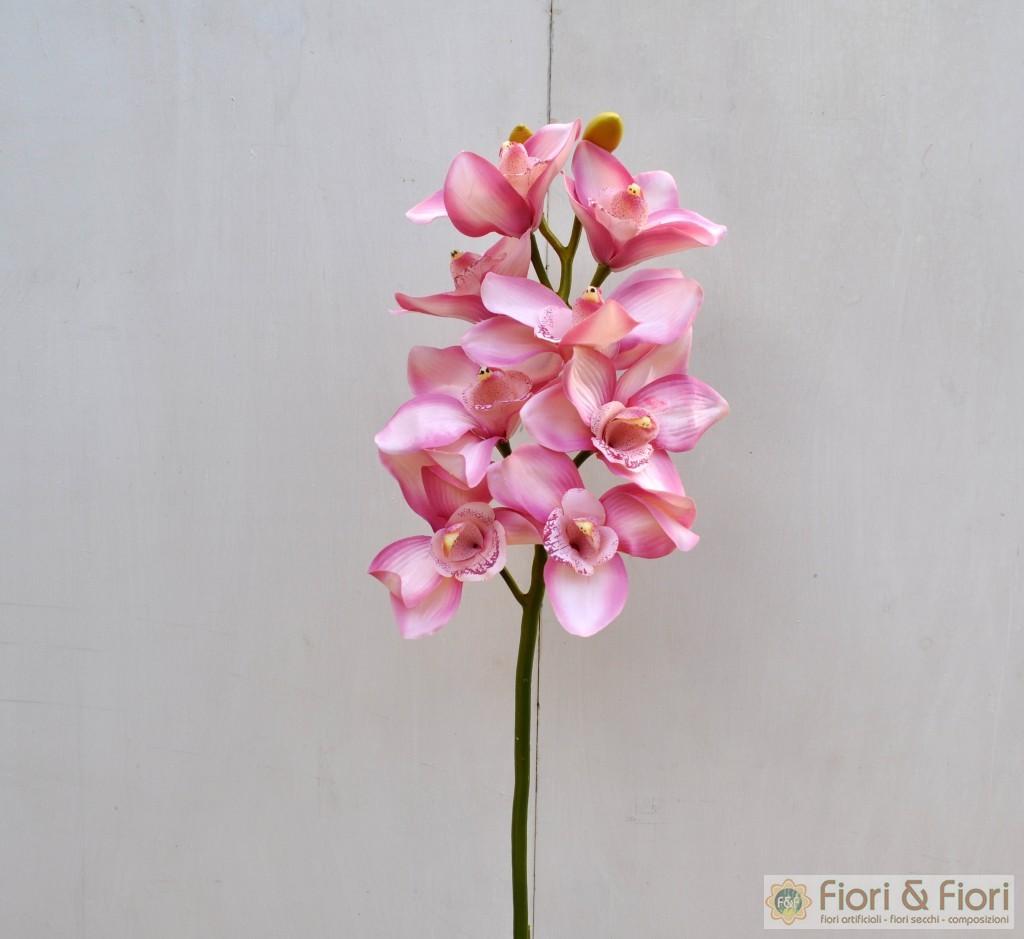Fiore finto di orchidea cymbidium elegant rosa fiori fiori for Orchidea finta