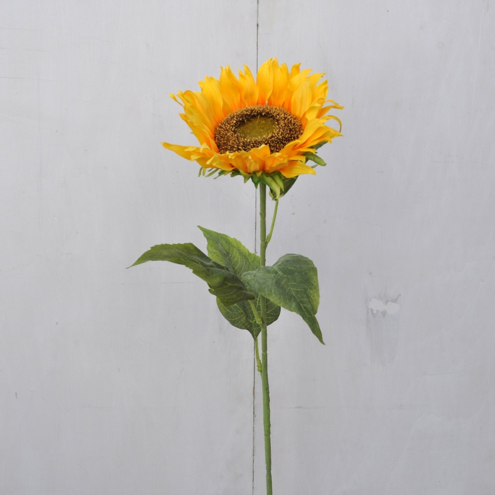Girasoli Finti Matrimonio : Fiore artificiale girasole maxi singolo floccato fiori