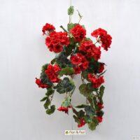 Piante artificiali fiorite