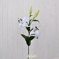 Fiore artificiale lilium stargazer bianco
