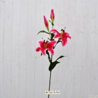 Fiore artificiale lilium stargazer fucsia