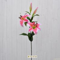 Fiore artificiale lilium stargazer rosa