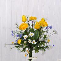 Bouquet di fiori artificiali Ranuncoli e Tulipani