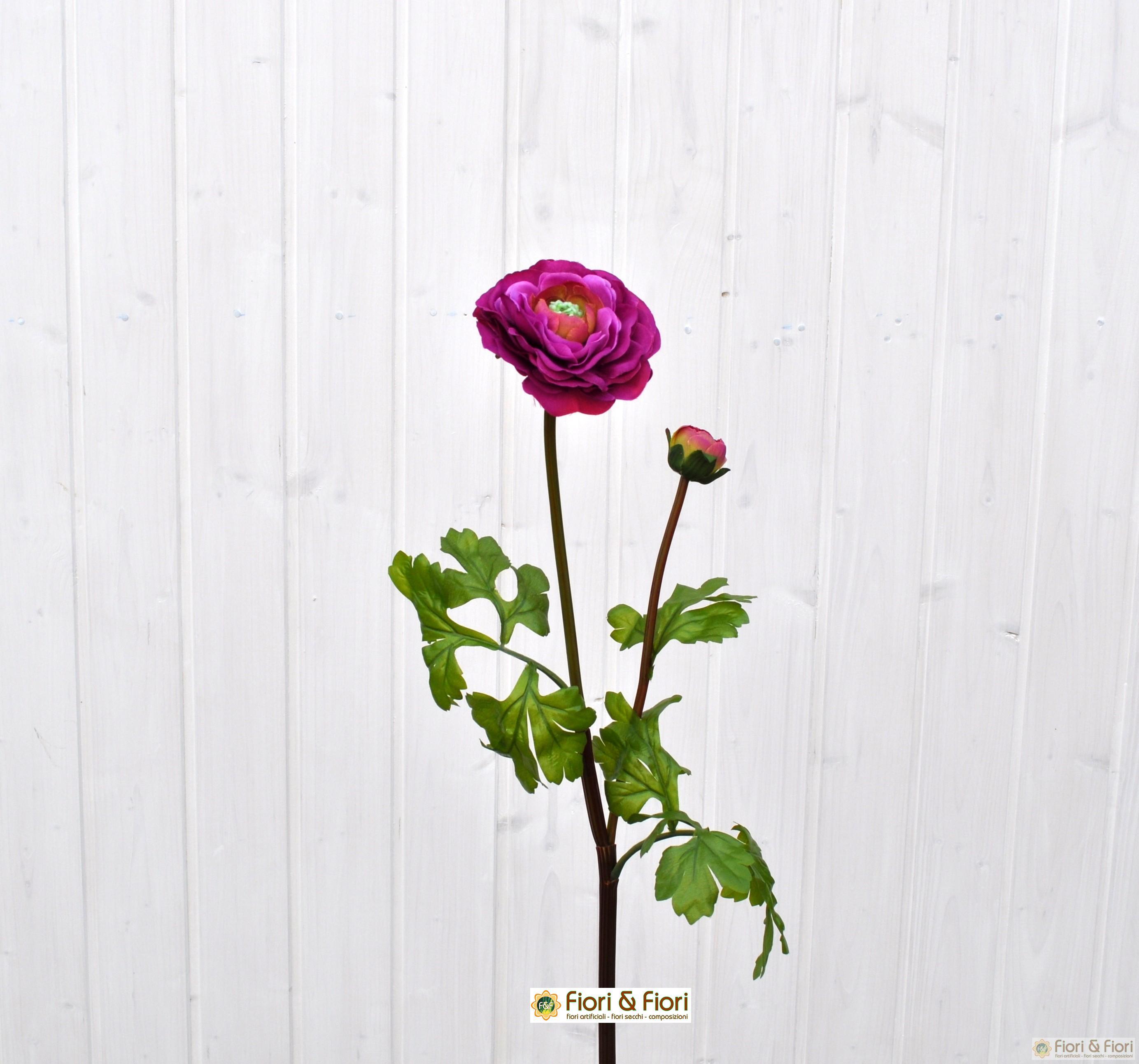 Fiore artificiale di ranuncolo viola for Viola arredamenti