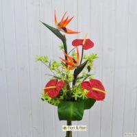 Bouquet di fiori artificiali tropical