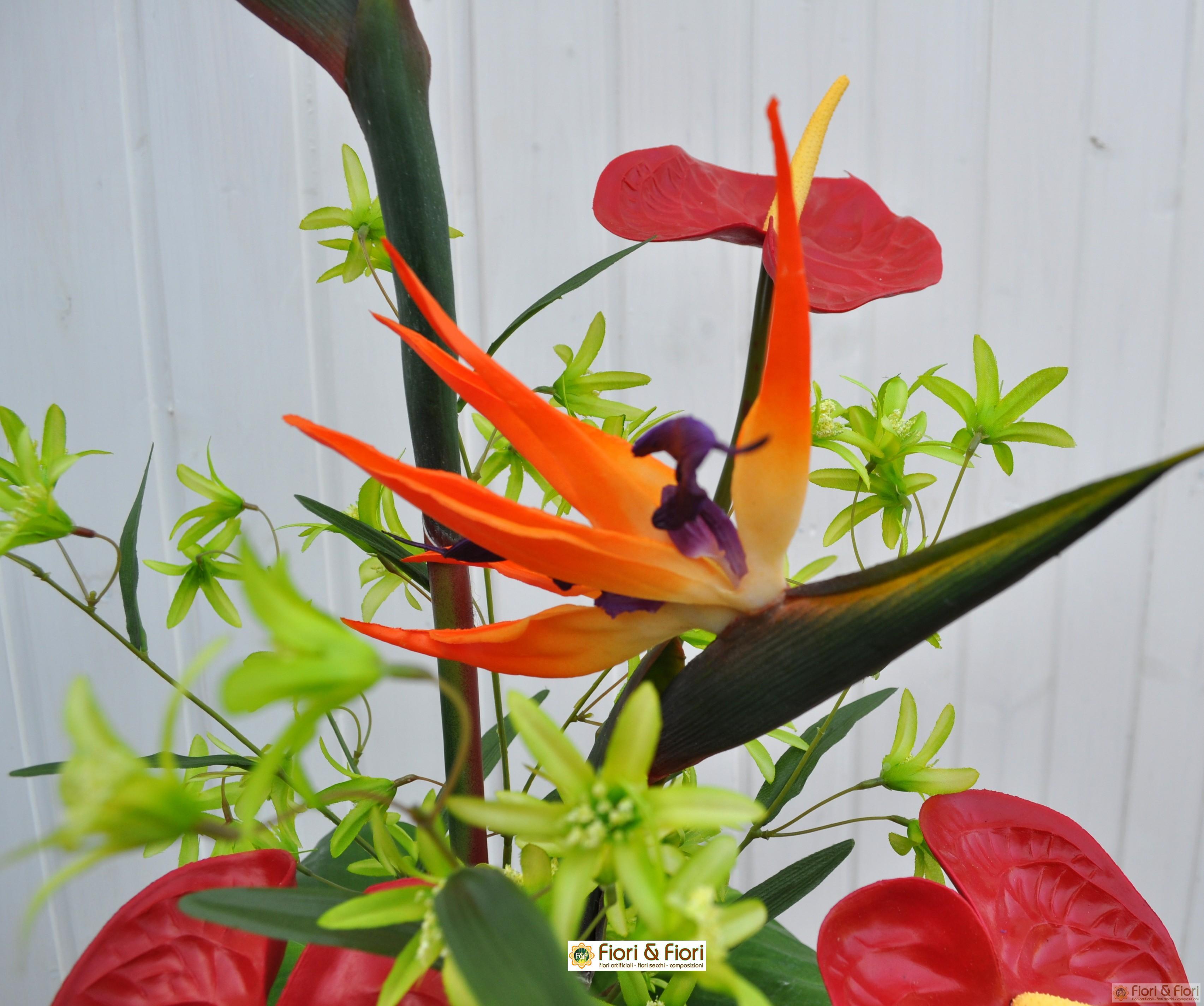 Bouquet di fiori artificiali tropical per decorazioni di for Fiori artificiali