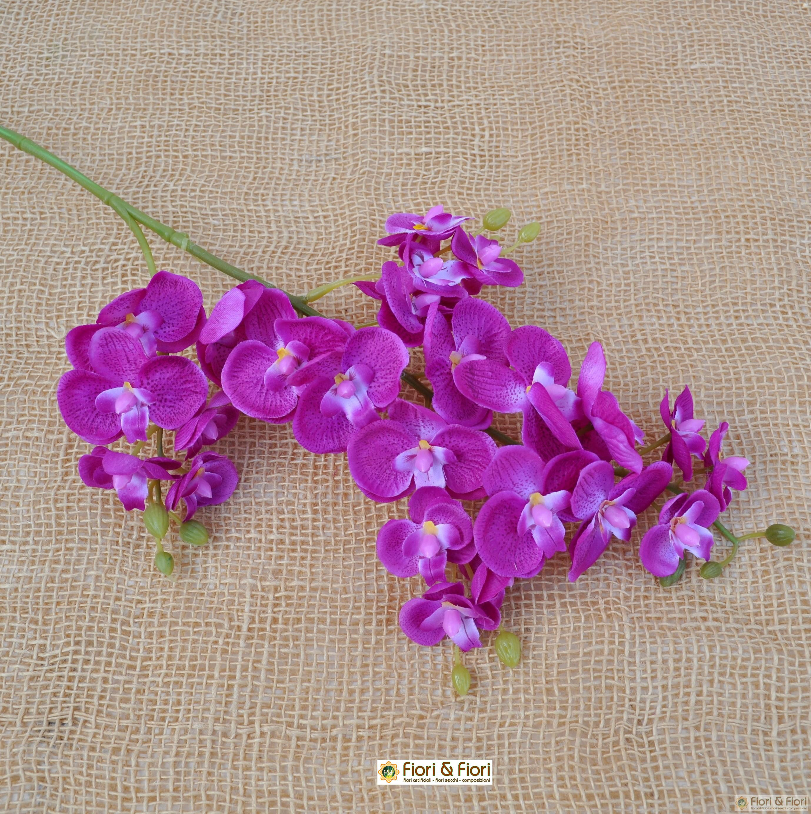 Fiore finto di orchidea phalaenopsis amabilis fucsia for Orchidea finta