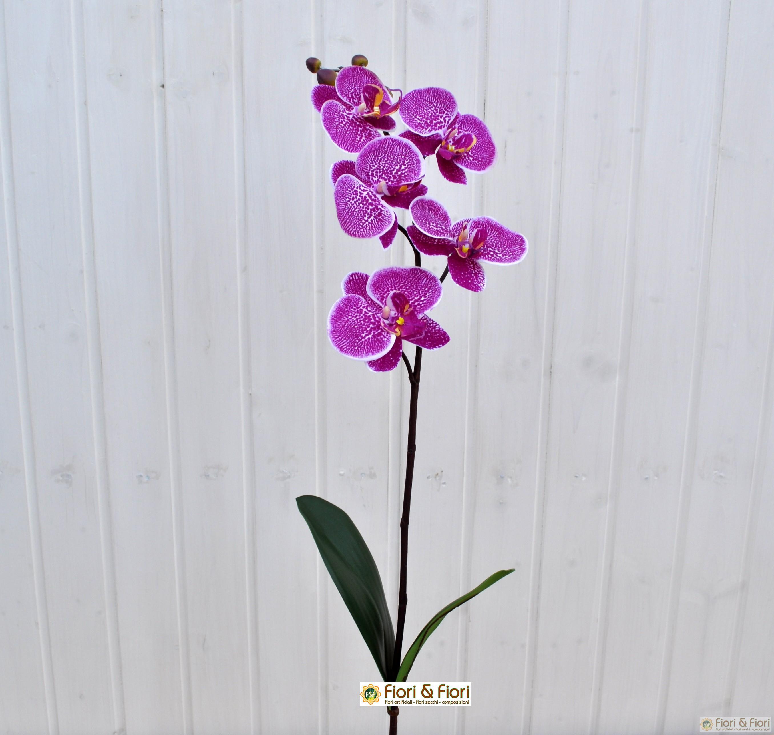 Fiore artificiale orchidea phalaenopsis fucsia per for Orchidea finta