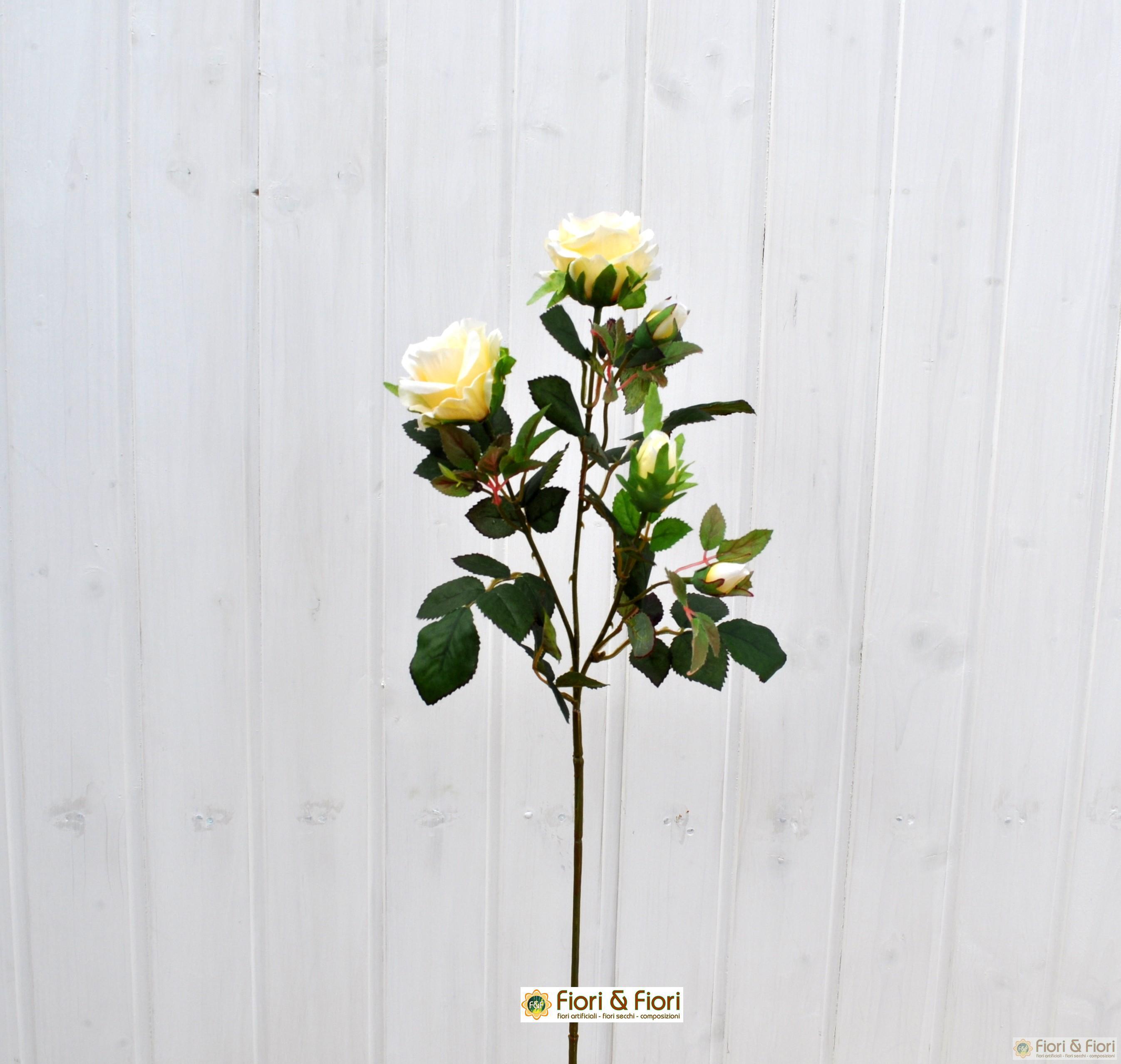 Fiore artificiale rosa carinzia bianca