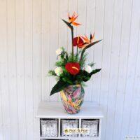 Bouquet di fiori artificiali esotic