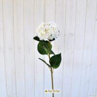Fiore artificiale ortensia alice bianca