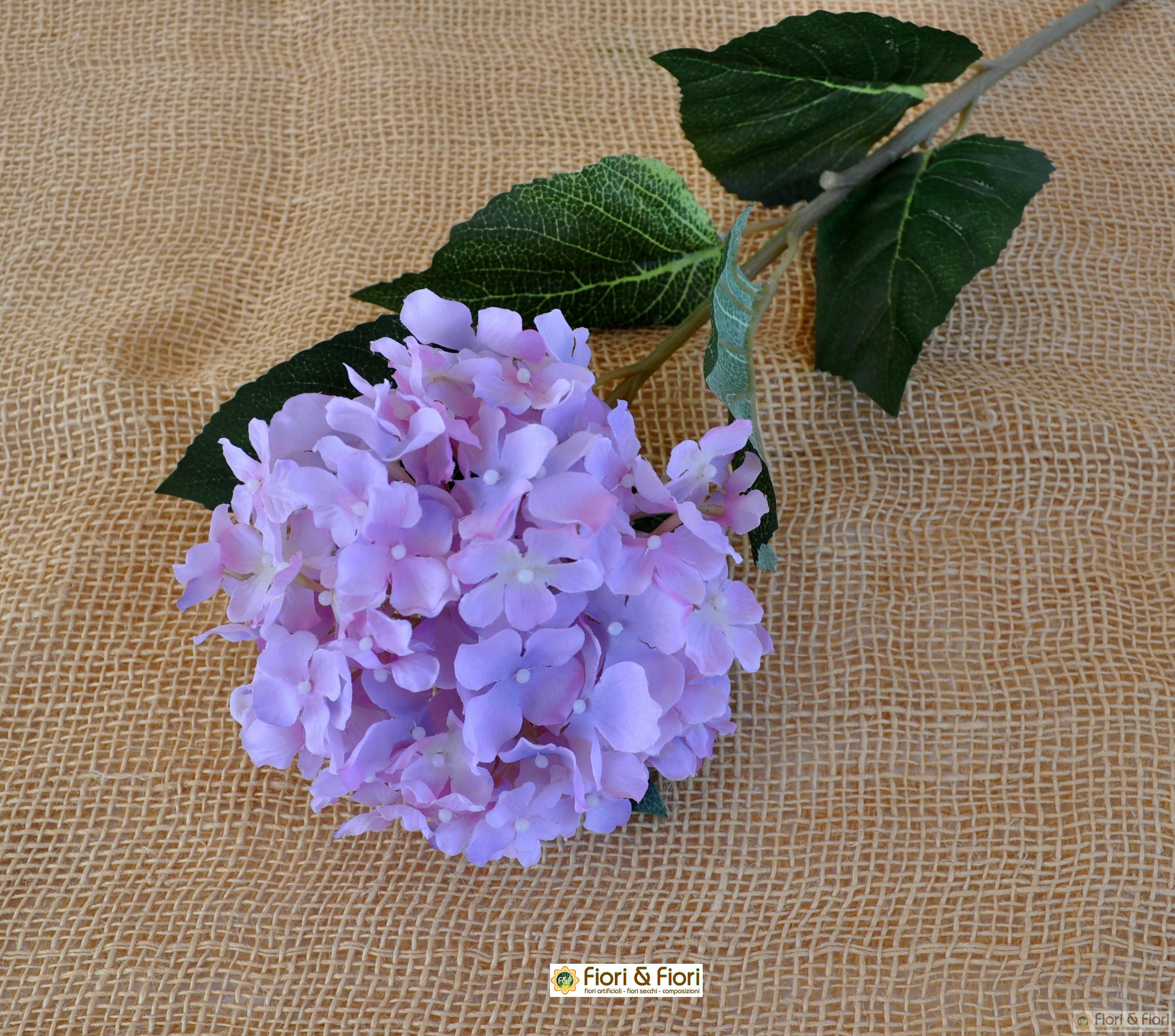 Piante Rampicanti Con Fiori : Fiore artificiale ortensia alice lilla per arredamenti di