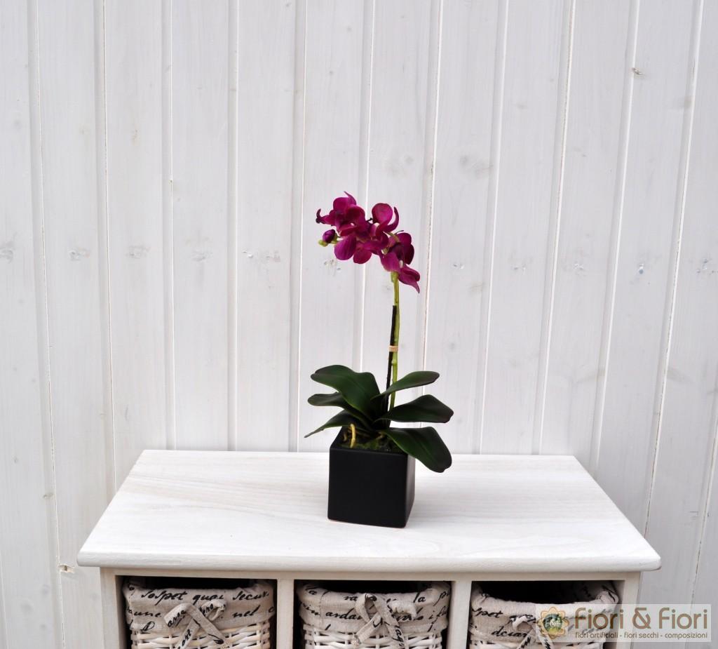 Pianta artificiale di phalaenopsis amabilis viola per for Viola arredamenti