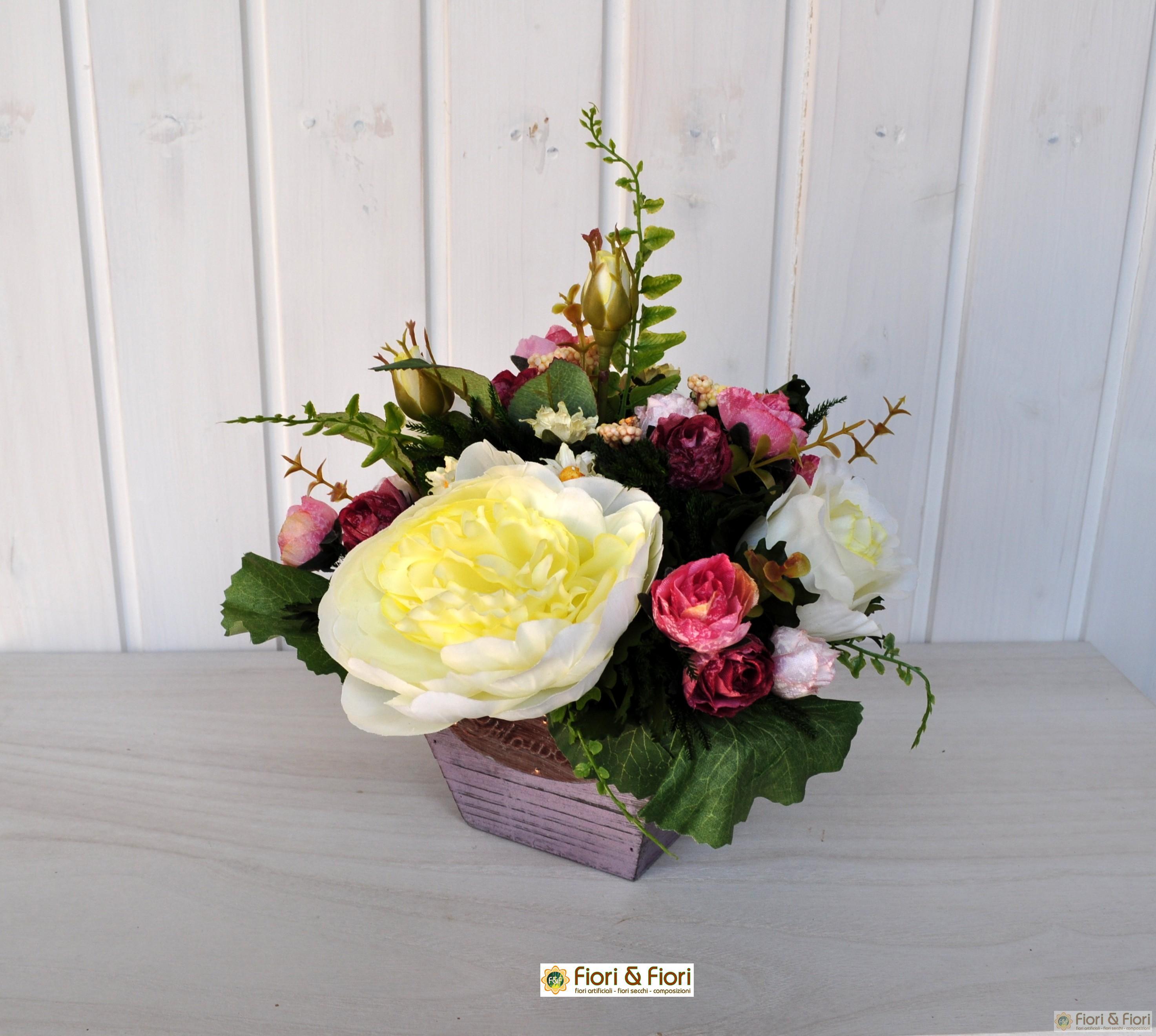 Souvent Composizioni di fiori artificiali sia da interno che esterno FD58