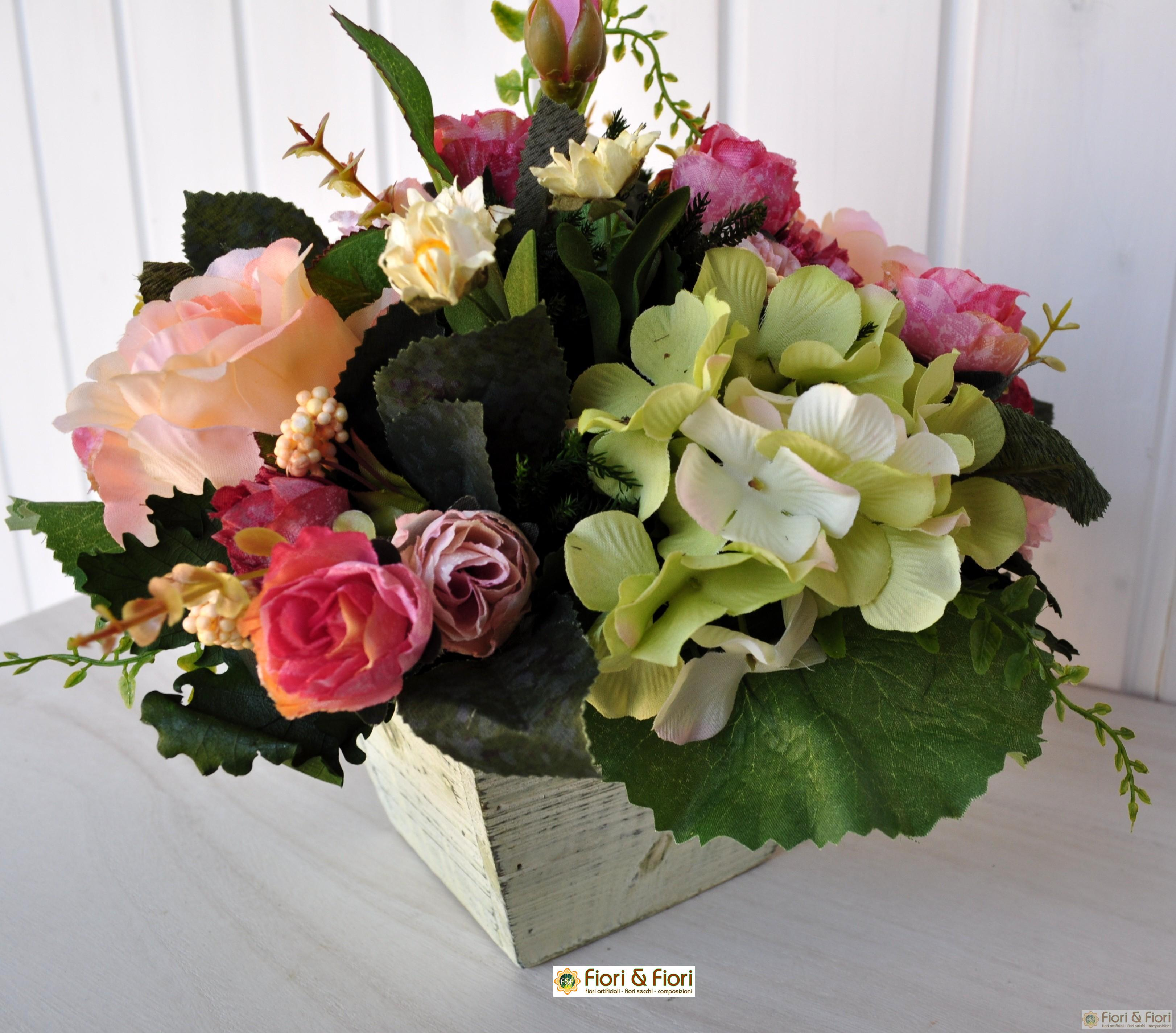 Composizione di fiori artificiali romantik per decorazioni for Fiori artificiali