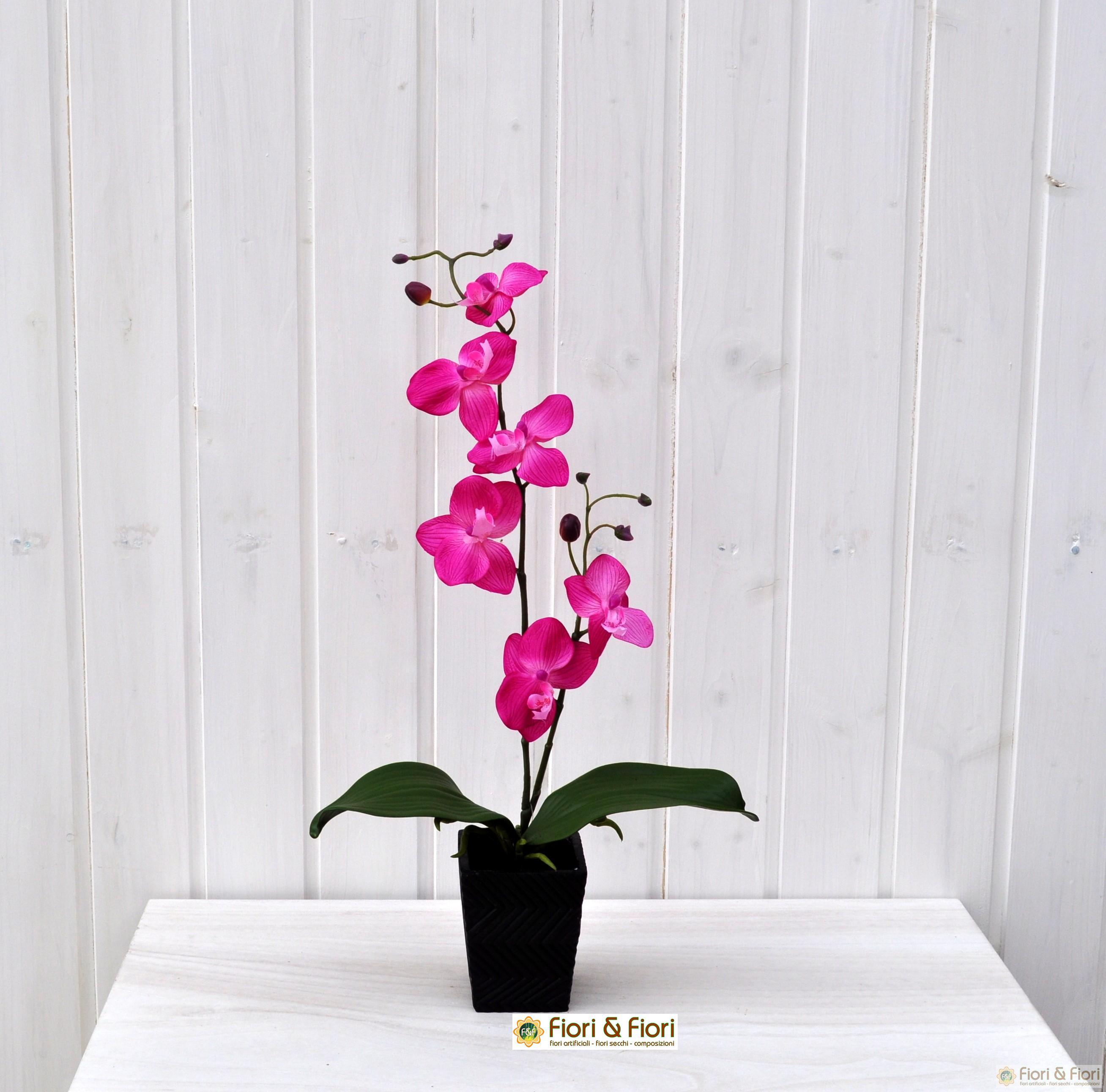 Pianta finta di orchidea phalaenopsis vanda fucsia for Orchidea pianta