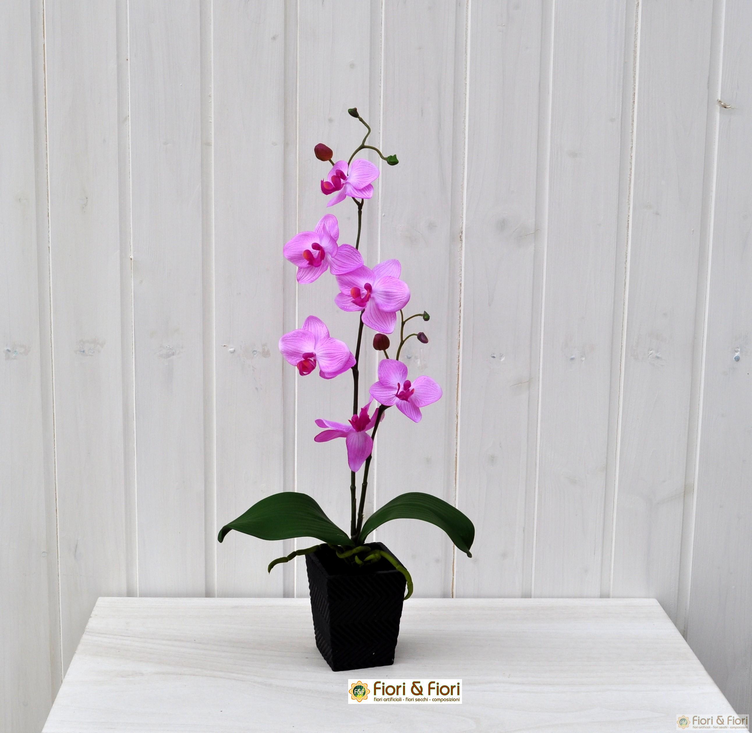 Pianta artificiale orchidea phalaenopsis vanda lilla for Orchidea pianta