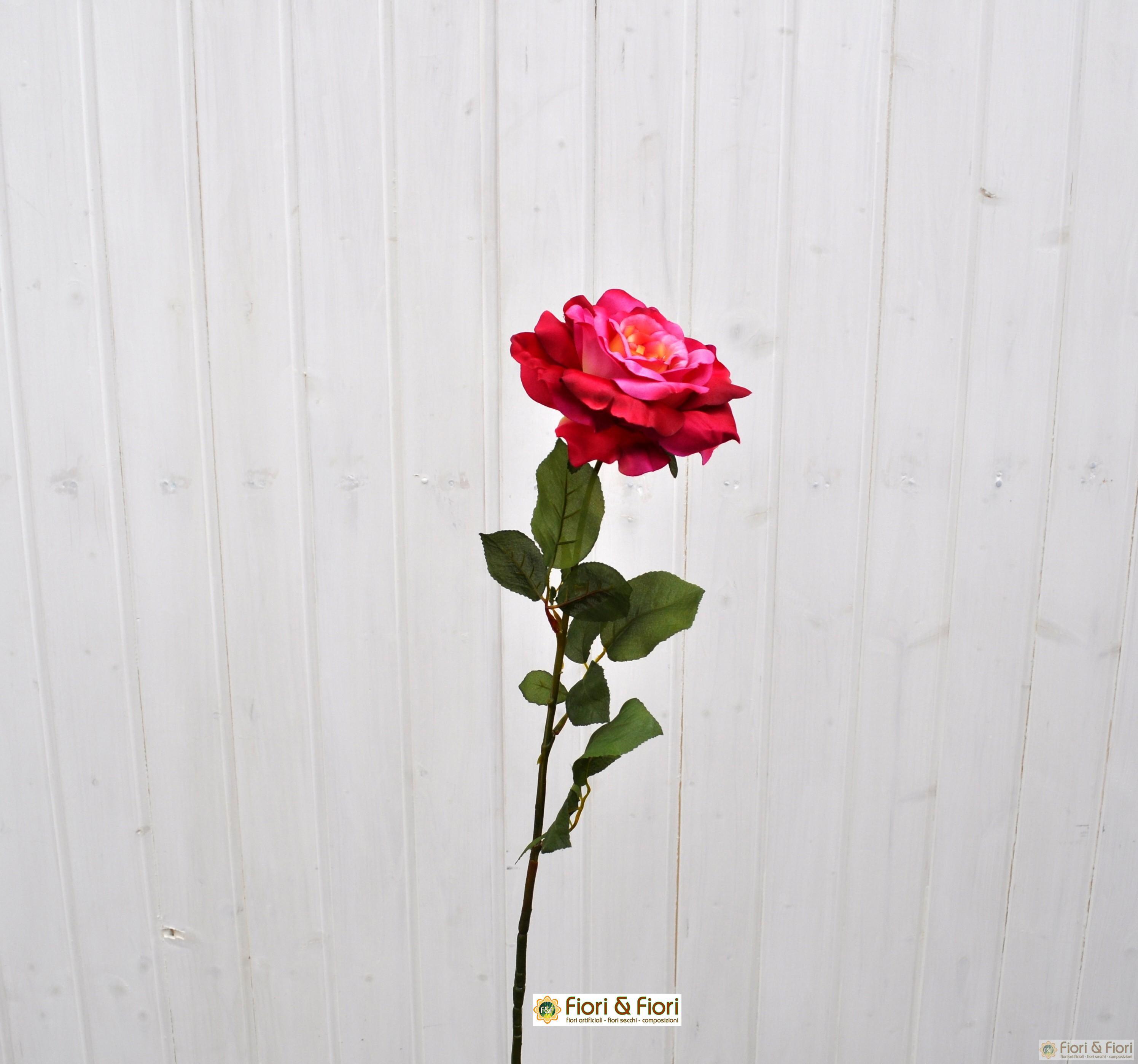 Fiore artificiale Rosa Dalì fucsia