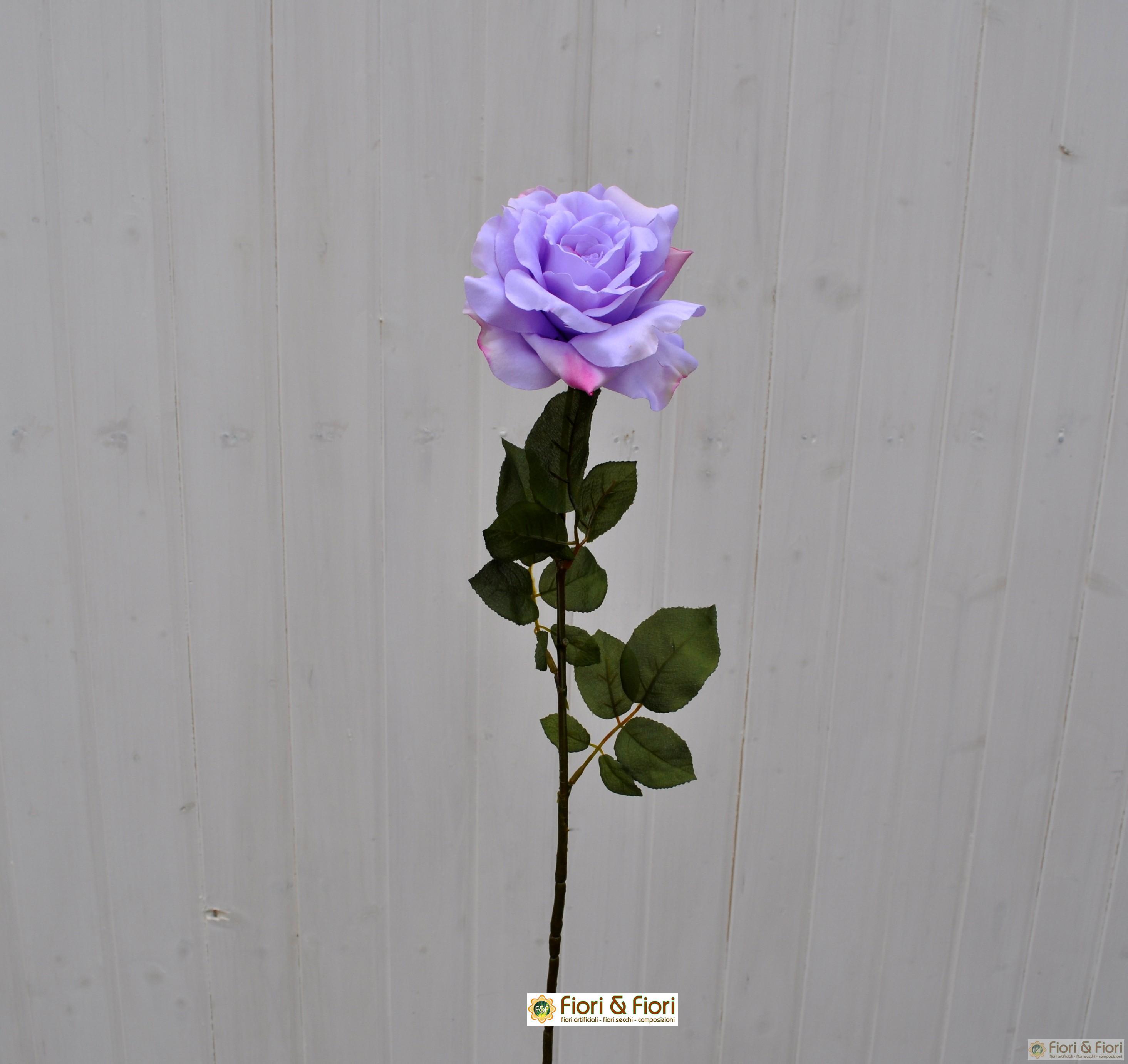 Fiore artificiale Rosa Dalì lilla
