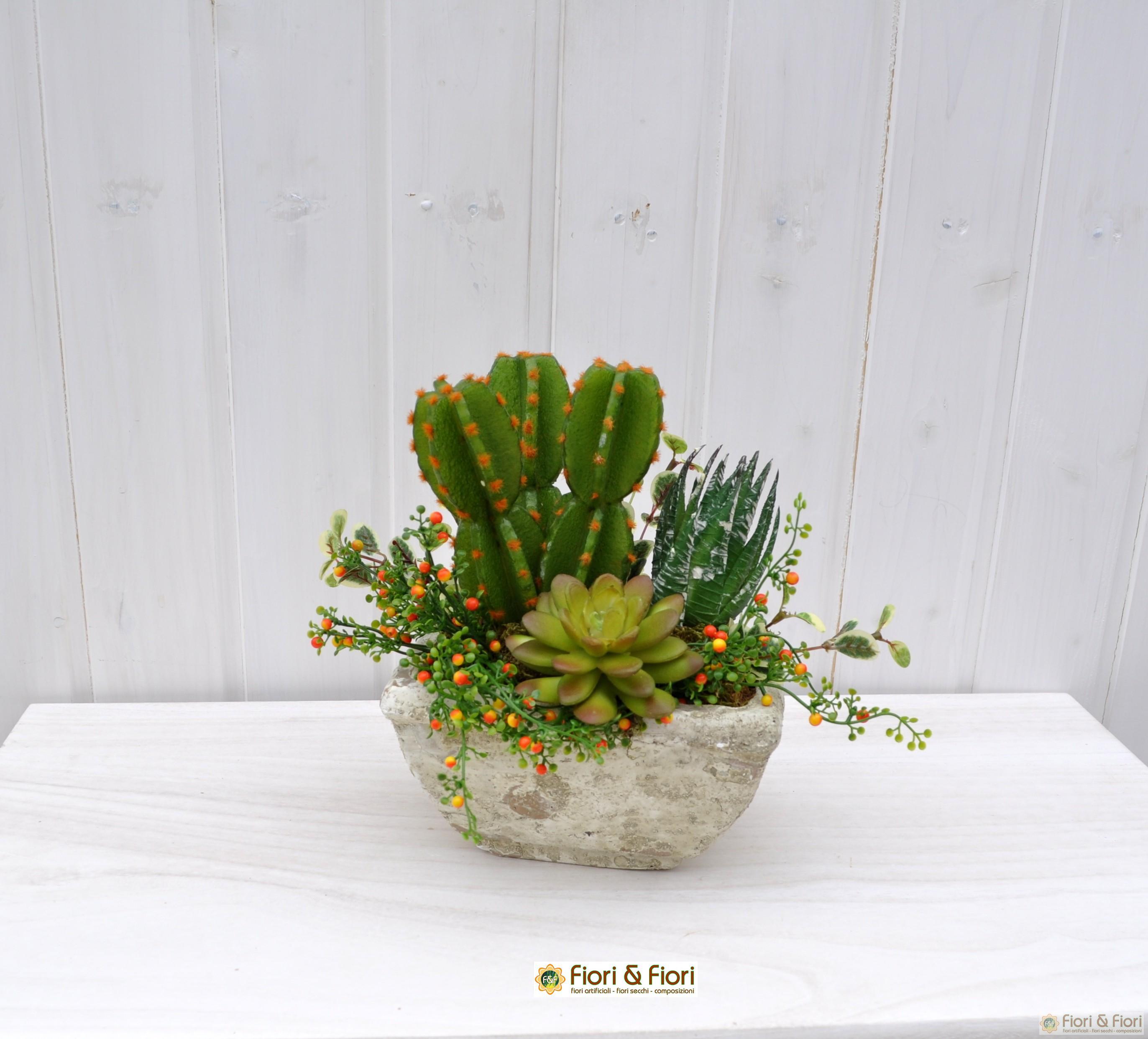 Composizione fiori artificiali tropic per arredamenti for Composizioni fiori finti per arredamento