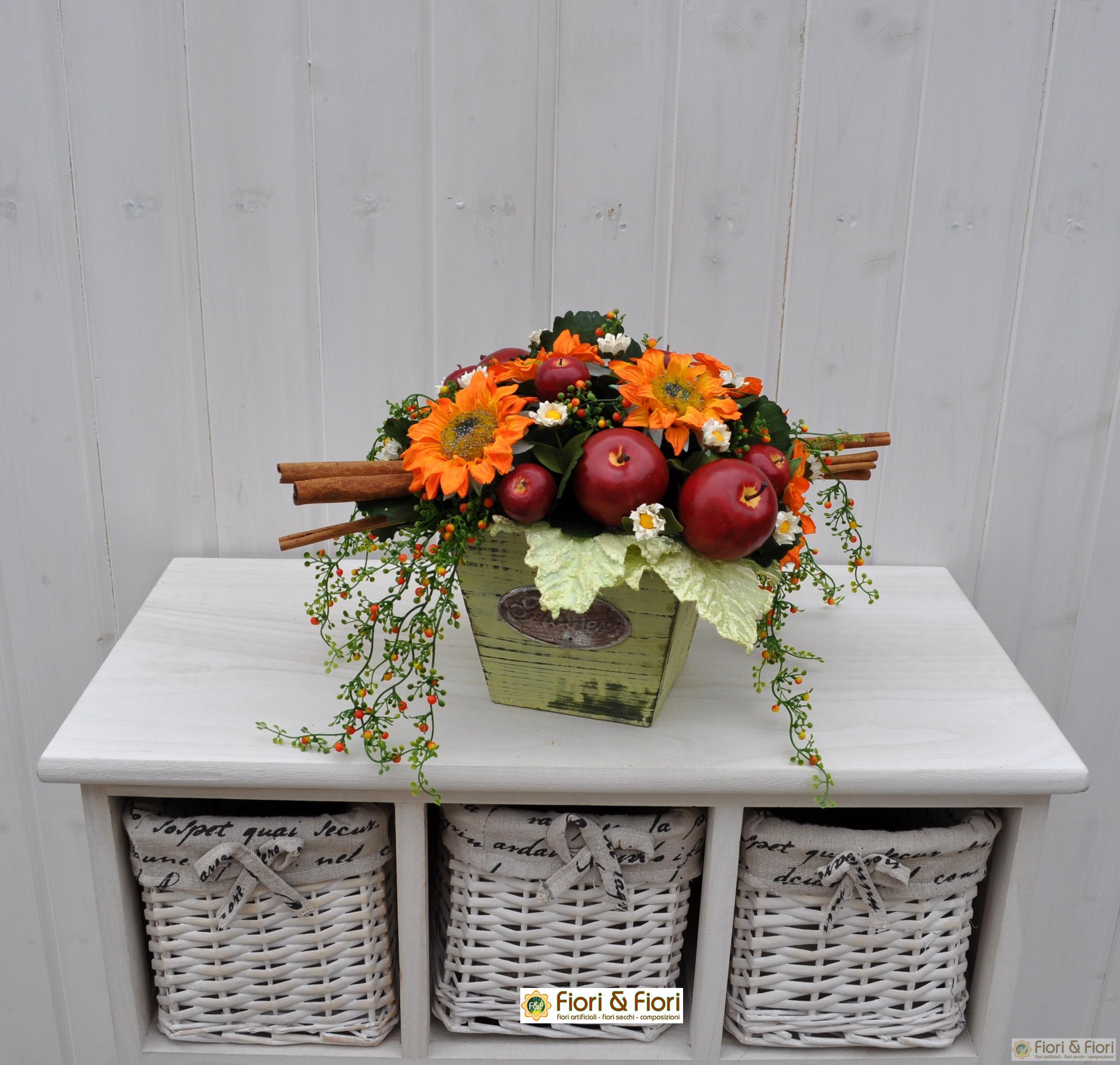 Composizione di fiori artificiali vittoria