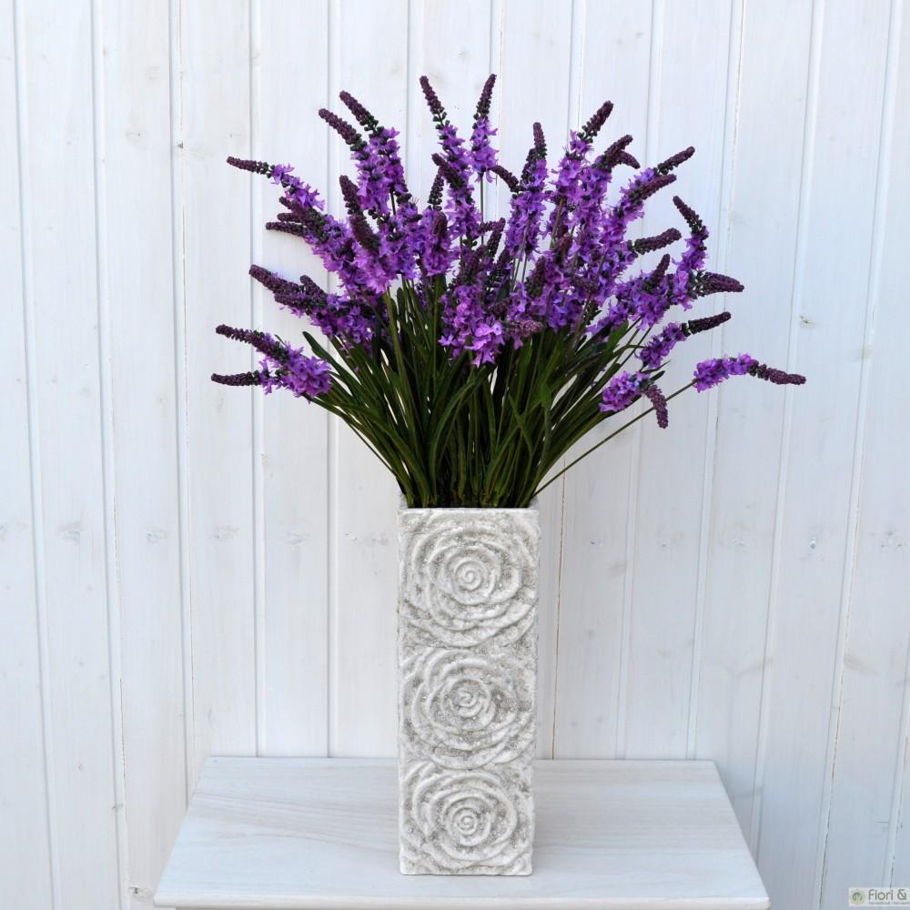 Lavanda artificiale spray viola per bouquet di fiori finti for Fiori di lavanda