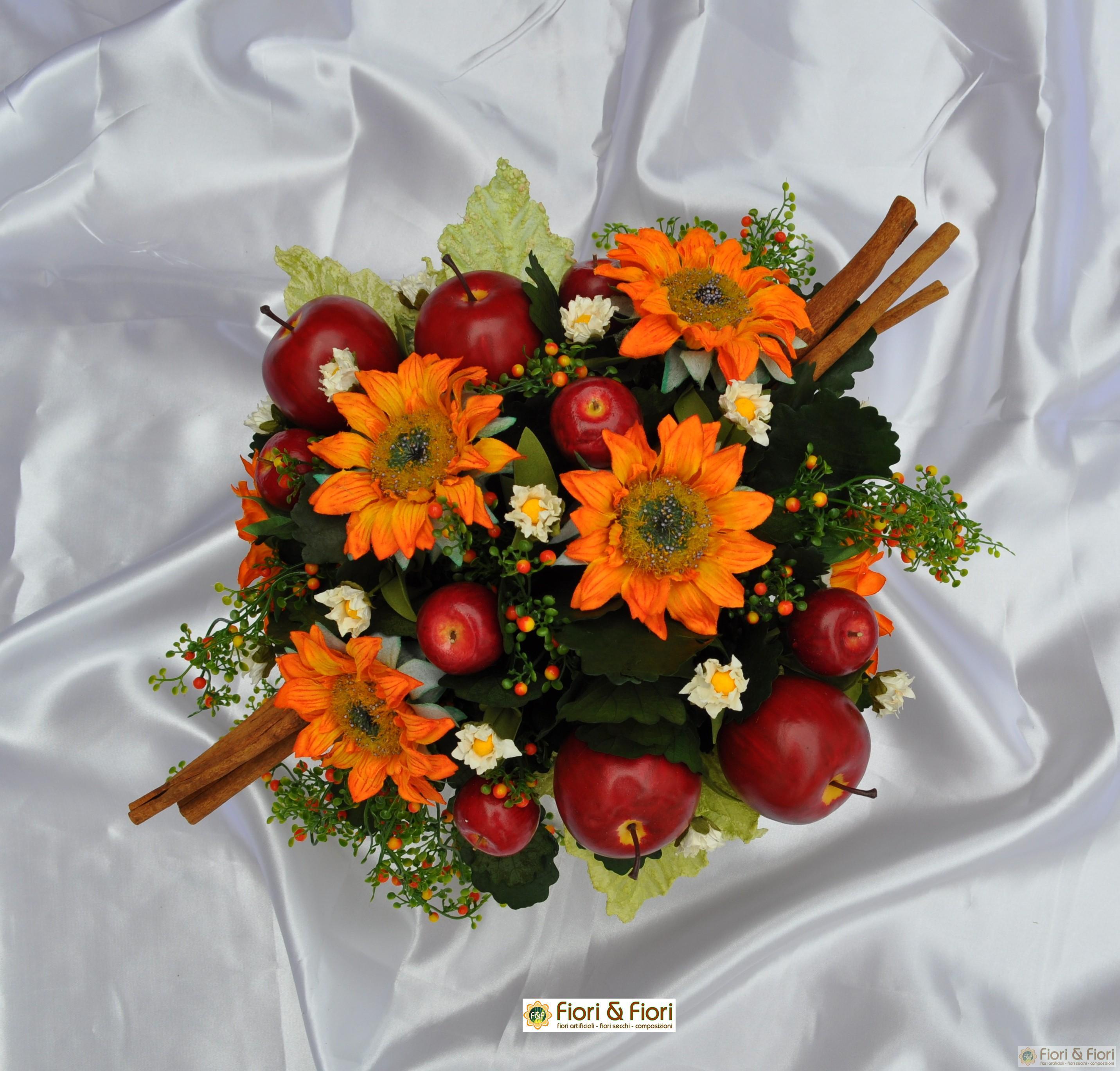Composizione di fiori artificiali vittoria - Centrotavola natalizi con fiori finti ...