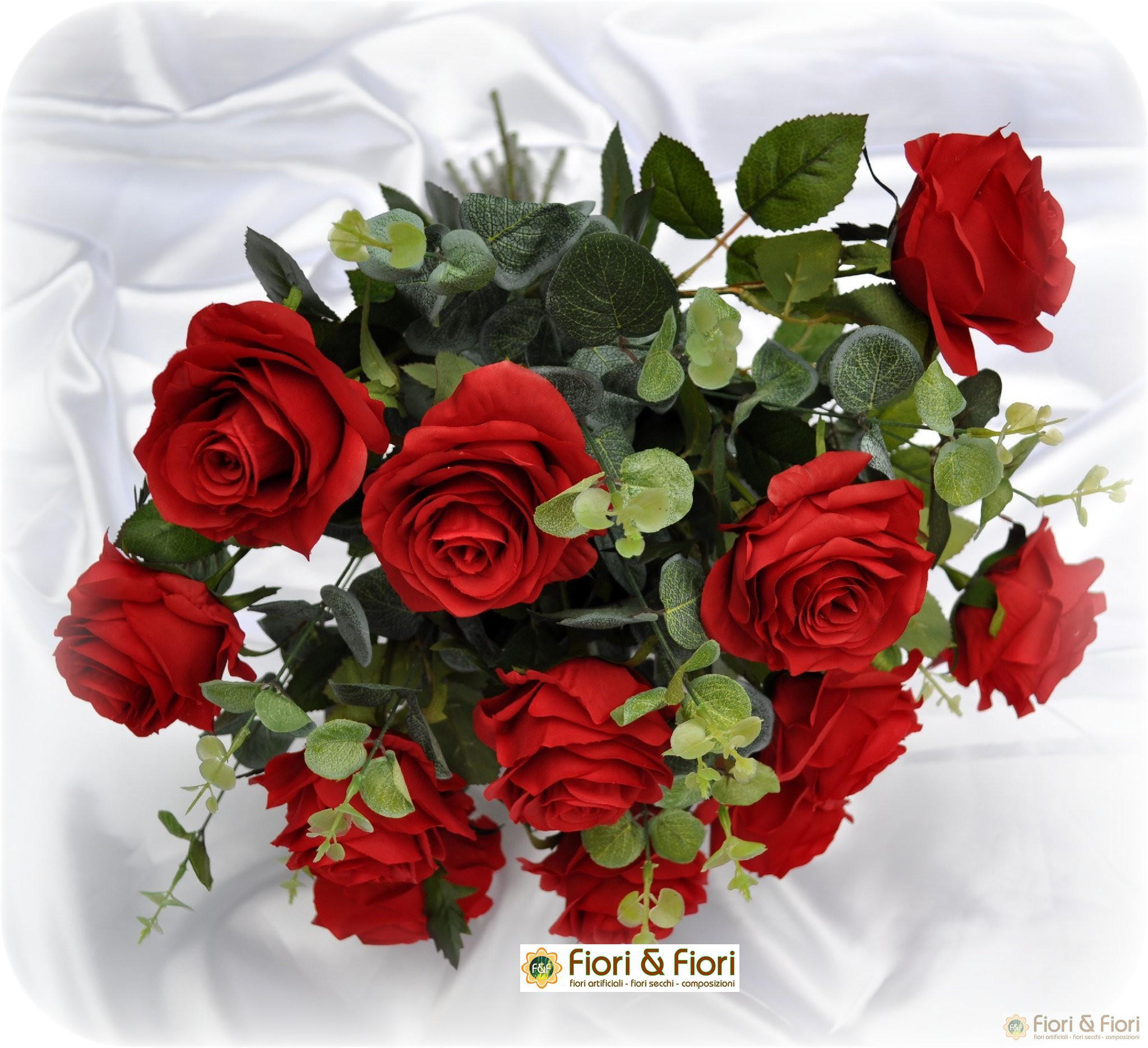 Ben noto fiori artificiali Rose France per arredamenti di interni UR48