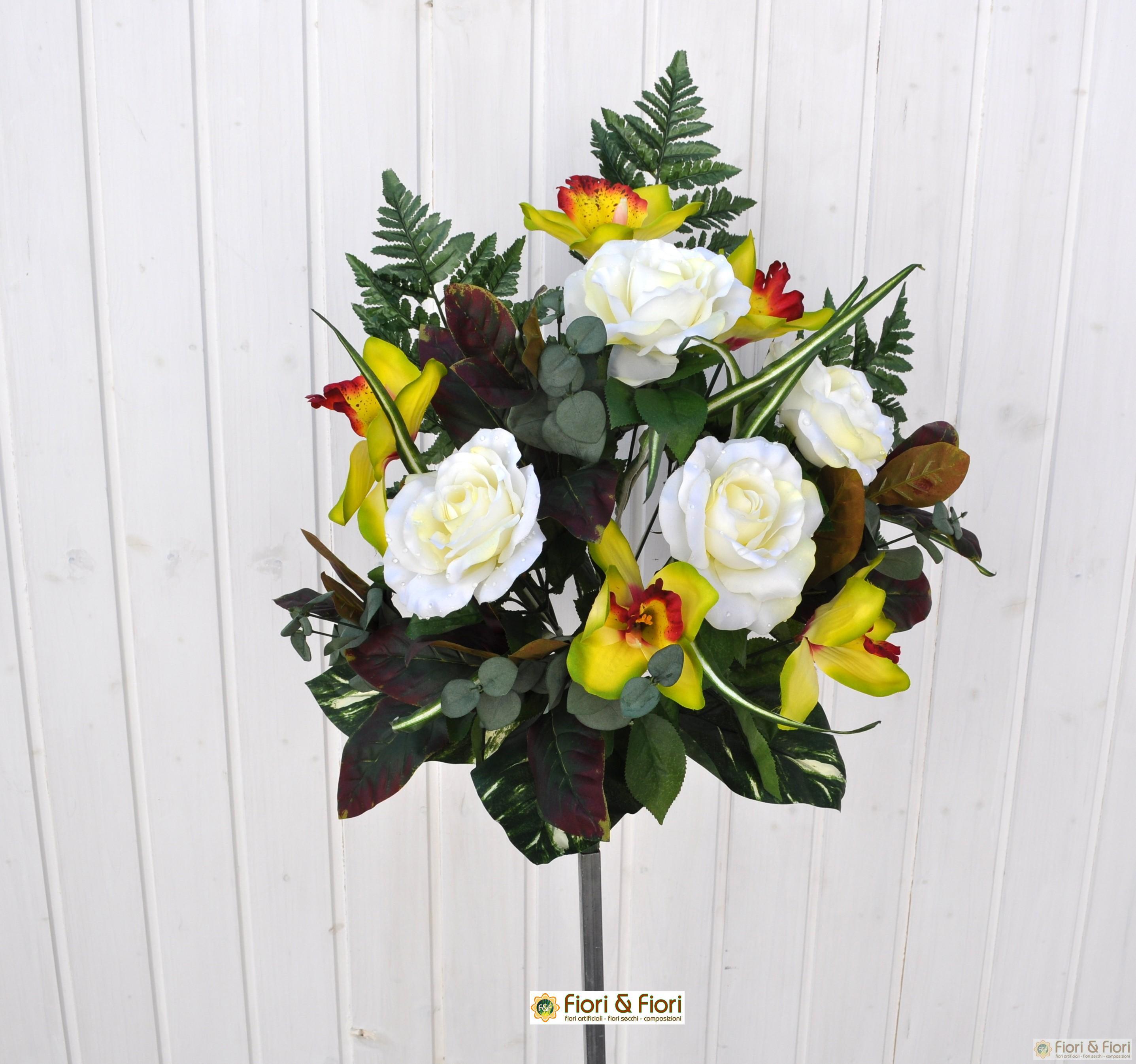 Composizioni fiori finti orchidee yt82 regardsdefemmes for Fiori artificiali