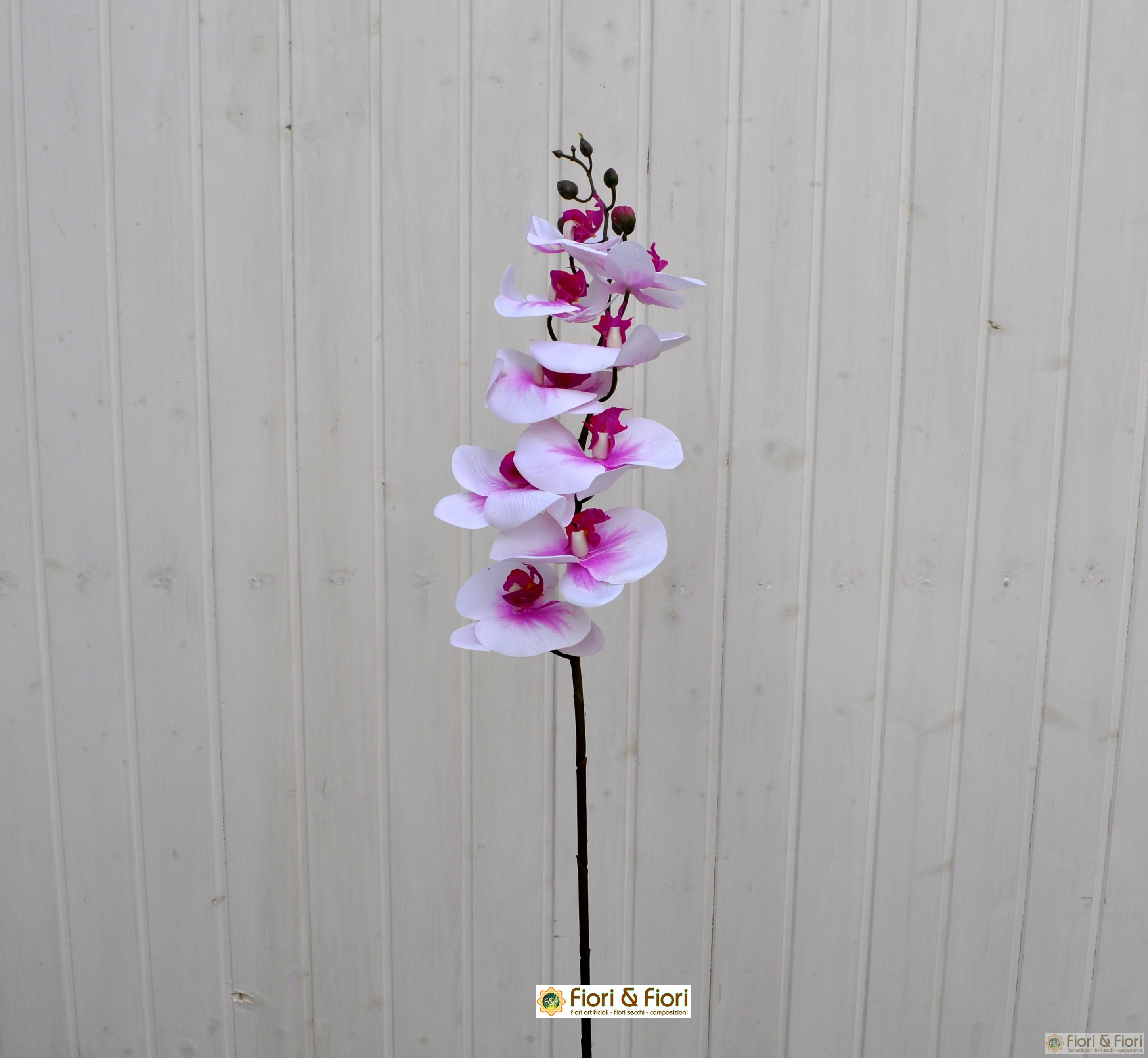 Fiore artificiale Phalaenopsis real touch fucsia
