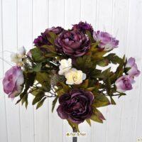 Bouquet fiori artificiali Rose country viola
