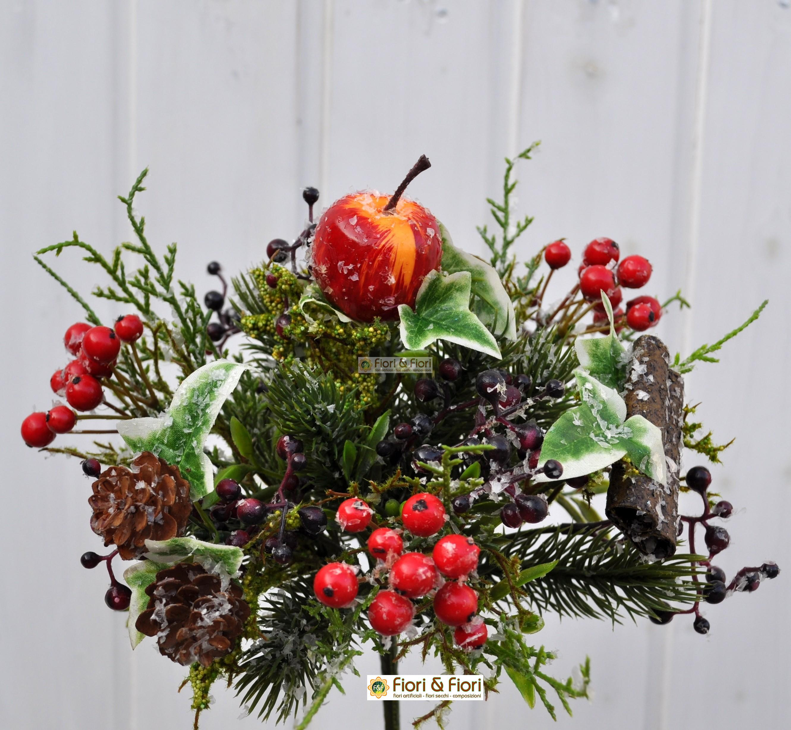 Bouquet bacche artificiali in materiale plastico - Decorazioni fiori finti ...