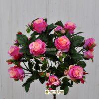 Bouquet rosa artificiale queen elisabeth rosa