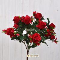 Bouquet rosa artificiale queen elisabeth rosso