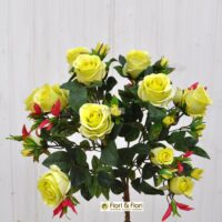 Bouquet rosa artificiale queen elisabeth verde
