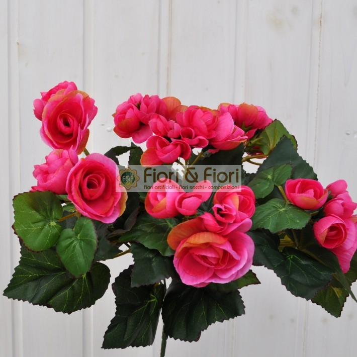 Begonia artificiale fucsia fiori fiori for Begonia pianta